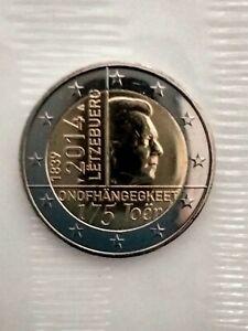 LUXEMBOURG 2014 2 EUROS UNC 175 ans de l'INDEPENDANCE