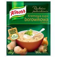 Knorr Kremowa Zupa Borowikowa z Cebulka Boletus Mushoom Soup Mix 50g Bag 3-Pack