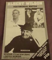 Albert Wilson Testimonial Match, 14 October 1980 RUFC v Sheffield Wednesday