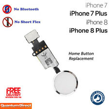 NEW iPhone 7 Plus Complete Home Button Replacement NO Bluetooth Required SILVER