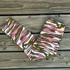 Pink Purple Army Camouflage CAPRI Leggings Womens OS One Size 2-12 Soft as LLR