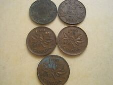Lot of 5 Canada One 1c Cent Circulated Pennies 1928, 32, 42, 46 and 45