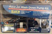 Johnson Aqua Jet High Pressure Hose Nozzle 5.2 GPM Wash Down Pump Kit 64534CL