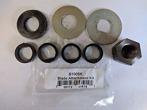 New Genuine OEM Swisher D Style Blade Spindle Shaft Attachment Kit B100SK