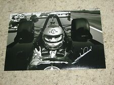 MARIO ANDRETTI SIGNED INDY CAR DRIVER 8x12 PHOTO coa indy 500 winner