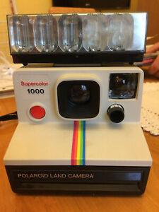 Mitica Polaroid Land Camera SuperColor 1000 flash fotocamera vintage collezione