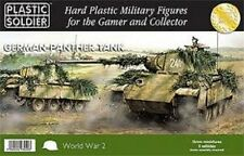 WW2V15012 15MM GERMAN PANTHER TANK - PLASTIC SOLDIER COMPANY WW2 - UNBOXED