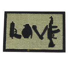 Morale Military Patch love Perfect for clothes  Backpacks etc SS6