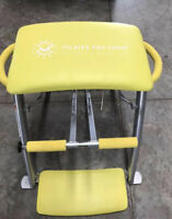 Pilates PRO CHAIR Exercise Workout Abs Bench Gym GUC Excellent Condition Yellow