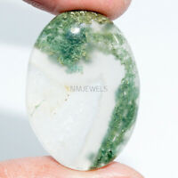 Cts. 30.20 Natural Moss Agate Cabochon Oval Cab Loose Gemstone