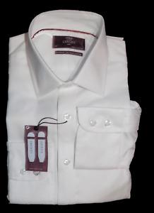 M&s Sammlung Bnwt Luxus Slim Fit Weiß Einzel Manschette Hemd Cost 45 15/38