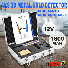800M AKS 3D METAL DETECTOR COLD LONG RANGE DIAMOND+ TRASMETTITORE + BATTERIA 12V