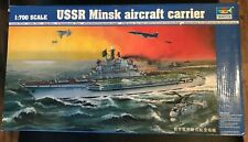 TRUMPETER USSR Minsk Aircraft Carrier #05703 1/700 - Yak-38 & Ka-27 -BUY IN USA!