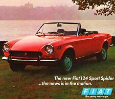 1970 FIAT 124 SPORT SPIDER CONVERTIBLE BROCHURE -FIAT 124 SPIDER CONVERTIBLE