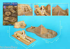 Detailed Architectural Model Egyptian Landmarks Great Sphinx Giza Pyramid