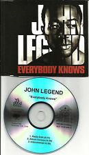 JOHN LEGEND Everybody Knows w/ RARE EDIT & INSTRUMENTAL PROMO DJ CD Single 2009