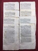 Douai 1804 Rare Lot Journaux Consulat Feuille de Douai Nord Hauts de France