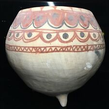 Fine & Large Daunian Polychrome Terracotta Tri-Foot Ancient Greek Pottery Bowl