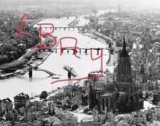 WWII 11X14 AERIAL RECON PHOTO 8TH USAAF DESTRUCTION BRIDGES FRANKFURT GERMANY