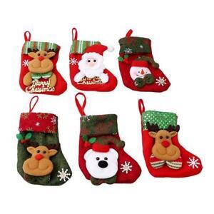 Christmas Santa Socks Ornaments Festival Party Xmas Tree Hanging Decor Gift 8C