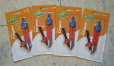 lot of 4 ~ School Works Plastic Compass ~ Pencil Included