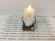 Midwest Cbk Smore Snowman Candle Flicker Light 3� Tall New with tag Plastic