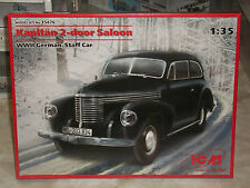ICM 1/35 Scale Kapitan 2-Door Saloon, WWII German Staff Car  - Factory Sealed
