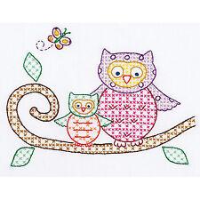 Cross Stitch & Embroidery - Jack Dempsey Needle Art Owls Sampler #161-506