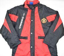 00453dcaa 1992-1993 MANCHESTER UNITED UMBRO FOOTBALL BENCH COAT (SIZE M)
