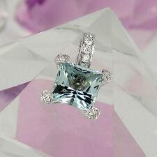 Markenlose Echte Edelstein-Halsketten & -Anhänger mit Aquamarin für Damen