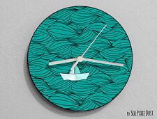 Paper Boat Wall Clock