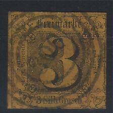 Thurn & Taxis 1852, Timbre 3 S ,  № Y&T 6, Mi 6, Oblitéré