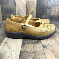 Women's Dr. Comfort Paradise Tan Leather Diabetic Mary Jane Shoes-Size 9 1/2 W