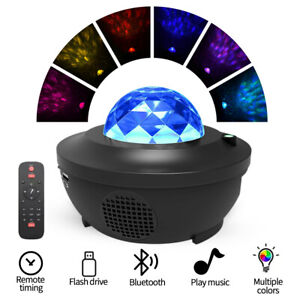 2 in 1 Projector LED Night Star Lights and Ocean Wave Light with Music Speaker