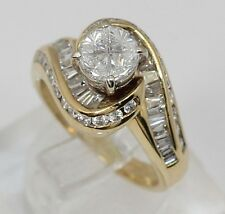 Estate 14K Yellow Gold Diamond Engagement Ring 1.48ctw Size 5