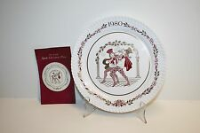 """Spode 1980 Christmas Plate The Eleventh in a Series """"Boar's Head Carol"""" Unboxed"""