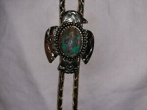 Vintage Turquoise(Fox Mine,Nevada 18mm x 12mm) Bolo Tie