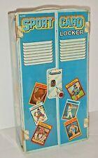 Vintage Sports Card Locker Case Baseball Football Hockey Blue Storage Topps 1980