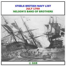 STEELS BRITISH NAVY LIST JULY 1799 CD ROM