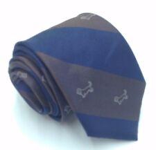 $125 TOMMY HILFIGER Mens SILK BROWN BLUE DOG PRINT NECK TIE CLASSIC NECKTIE 58X3