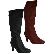 Women's Knee High Synthetic Zip Boots