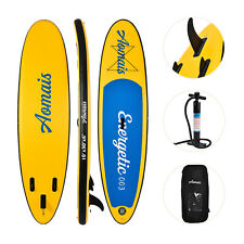 11' Inflatable SUP Stand up Paddle Board Surfboard Adjustable Fin Paddle Yellow