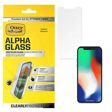 OtterBox Alpha Glass Tough Screen Protector iPhone X Crystal Clear Screenshield