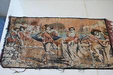 Vintage Wall Hanging Velvet Tapestry English Scene L#161