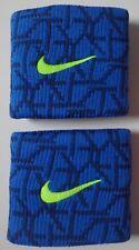 Nike Dri-Fit Baseball Graphic Print Wristbands Game Royal/Volt Set of 2 New