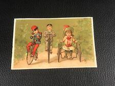 CHROMO CARD VELO BICCI  EPOQUE 1880 90