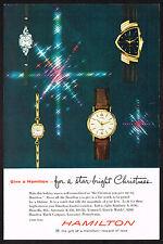 1950s Vintage Hamilton Automatic K458 Ventura Watch Paper Photo Print Ad