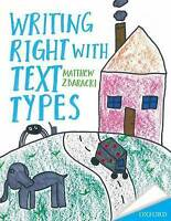 Writing Right with text Types by Zbaracki, Matthew D. (Paperback book, 2015)