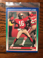 1990 Score #1 Joe Montana Football Card San Francisco 49ers HOF NFL Raw