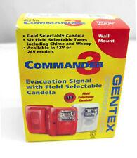 New listing Gentex Commander 3 Horn Strobe Evacuation Signal, Gec3-24Wr